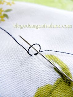 E.C.B. (Especially Creative Broad) has moved to blog.edesignsfashion.com: How to start hand sewing without knotting the thread