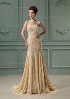 Romantic Strapless Fully Beaded Dress