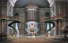 I want this library...and this book. Beauty and the Beast by Madame Gabrielle-Suzanne Barbot de Villeneuve