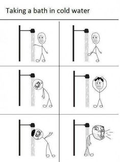 the joy of cold showers. haha.