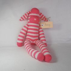 Roxy Rabbit. Sock animal, sock rabbit, sock monkey, soft plush toy for children.. $23.00, via Etsy.