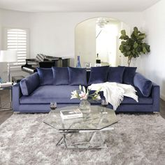 Completely upgrade your living room with our modern contemporary sofa sectionals. Small Living Rooms, Living Room Sets, Living Room Designs, Living Room Decor, Jerome Furniture, Cheap Home Decor, Sectional Sofa, Couch, Interior Design
