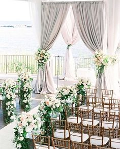 Stunning wedding ceremony decor #weddingdecor #weddingceremony #flowers #weddingisle