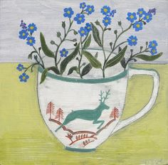 Debbie George, Painter: Beside the wave gallery, Falmouth, Cornwall Evelyn Henson, Cup Art, Still Life Art, Botanical Art, Oeuvre D'art, Flower Art, Flower Power, Illustration Art, Gallery
