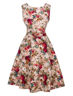 SHARE & Get it FREE | Vintage Floral Print Tie-Waist DressFor Fashion Lovers only:80,000+ Items • New Arrivals Daily • Affordable Casual to Chic for Every Occasion Join Sammydress: Get YOUR $50 NOW!