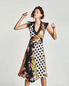 Image 6 of CROSSOVER PATCHWORK DRESS from Zara