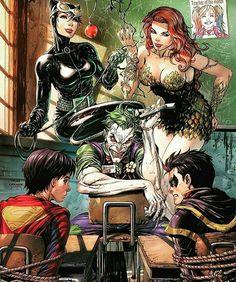 #joker#poisonivy#catwoman#robin #superboy #Gotham #DC #ART #Comicbooks #Comic #like #Follow