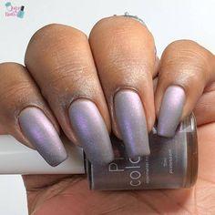 Uranus in Purple Nail Polish with Aurora Shimmer image 5 Purple Nail Polish, Purple Nails, Nail Polish Colors, Color Nails, Fall Acrylic Nails, Autumn Nails, Acrylic Nail Designs, Gelish Nails, Minx Nails