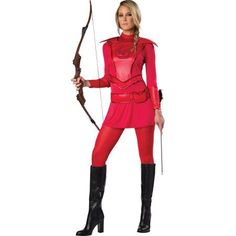 Adult Red Warroir Huntress Costume Incharacter Costumes 11098, Adult Unisex, Size: Small, Multicolor