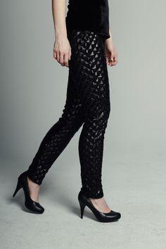 MAISON CYMA - La Mystérieuse // Spangled checkerboard skinny pants. // #fashion #readytowear #sequins #ootd #designer #fallfashion #maisoncyma #clothes #clothing