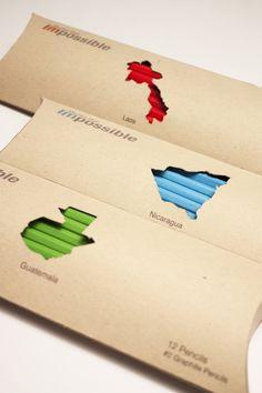 Conceito de embalagem para lápis de cor temática por países por Jessica Alley #branding #packing #pencils #design