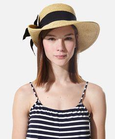 Hat with ribbon trim - OYSHO