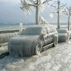 Ice Storm - Versoix near Geneva, Switzerland