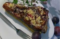 Jemný makovo-slivkový koláč (fotorecept) Desserts, Food, Basket, Tailgate Desserts, Deserts, Essen, Postres, Meals, Dessert