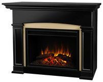 Real Flame - Holbrook Electric Fireplace - Black
