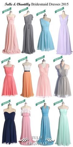 Tulle and Chantilly bridesmaid dresses 2015 trends #tulleandchantilly