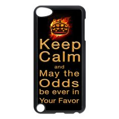 Keep calm mockingjay design apple ipod 5 touch case cover, US $16.89