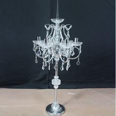 5 Arms crystal and metal candelabra with real crystal bead & drops-Product Center-Zhong Fa Industrial Develop Ltd-