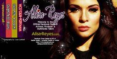 Facebook cover image I designed via @KanDel_Media for Los Angeles based actor, Alisa Reyes