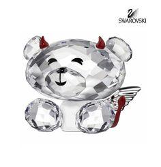 Swarovski Crystal Figurine Lovlots BO BEAR NAUGHTY BUT NICE #1143382