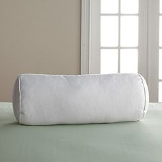 Firm, 95% Feather/5% Down Bolster Pillow | The Company Store $24 8x20