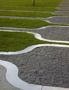 Award winning San Francisco based Landscape Architecture and Urban Design Firm Surfacedesign Inc. Landscape Elements, Landscape Architecture Design, Contemporary Landscape, Urban Landscape, Landscape Architects, Interior Exterior, Exterior Design, Paving Design, Path Design