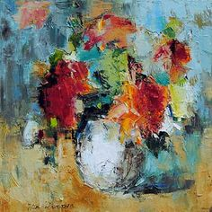 Bright Beginning - original oil painting by Julia Klimova at Crescent Hill Gallery