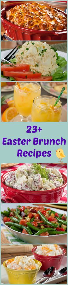 "23+ Recipes for an ""Eggcellent"" Easter Brunch - including eggy dishes, Easter punch, and perfect brunch desserts!"