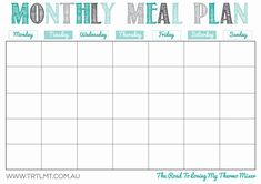 8 Best Images of Printable Monthly Meal Planner Calendar - Meal-Planning & Calendar Printable, Printable Weekly Meal Planner Calendar and Free Printable Meal Planner Template Meal Planner Calendar, Menu Planner Printable, Free Meal Planner, Weekly Menu Planners, Planning Calendar, Monthly Meal Planning, Planning Budget, Meal Planning Printable, Calendar Printable