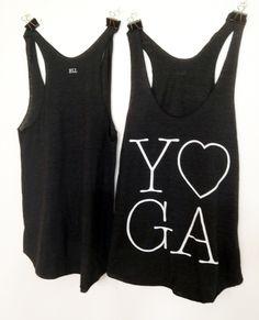 Black and White Yoga Tank Top on your Aspen Yoga Mat