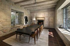 Dining Hall - Ellen DeGeneres & Portia De Rossi List Santa Barbara Estate -For $45 Million - dining villa