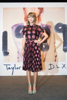Game-Changer: Taylor Swift introduced a more grown-up, ladylike style this year with matching sets, crop tops, and cute polka dot dresses