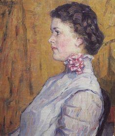Портрет неизвестной на желтом фоне. 1911. Василий Иванович Суриков
