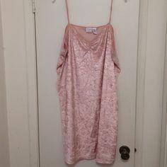 Gorgeous velveteen pink nightgown, 3X Gorgeous velveteen pink nightgown, ruching at bust, XXXL Gilligan & O'Malley Intimates & Sleepwear Chemises & Slips
