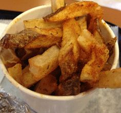 At Mojo Burger Co., you can choose from different seasonings to top off the hand-cut fries (regular, cajun, lemon pepper, sweet and salty, ranch, or salt and vinegar).