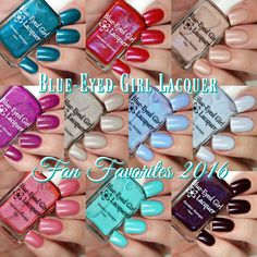 Blue Eyed Girl Lacquer Fan Favorites 2016 Collection | Cosmetic Sanctuary