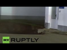 02/20/2016 - Germany: 50m deep sinkhole swallows building in Nordhausen - YouTube