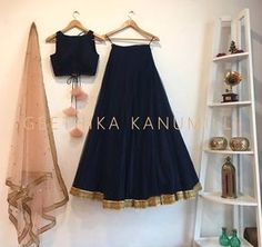 What a gorgeous plain black lehenga with that beige latkans. I am in love. #Frugal2Fab