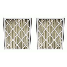 2 Pleated HVAC Filters, MERV-8 Rating, Approx Size: 20x25x5