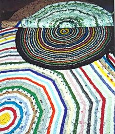 crochet rugs made from plastic bags