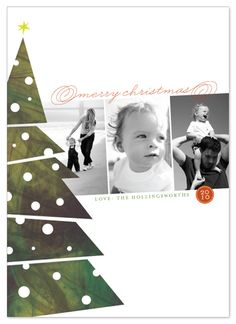 Deco Christmas Tree card. This is beautiful!  I think it would also make a great scrapping layout!