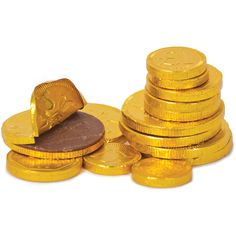 Gold chocolate coins every Christmas in my stocking