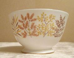 Royal Vale Bone China Autumn Colours Sugar Bowl Hearts Designs 1