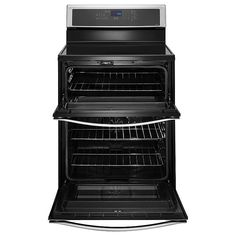 """Whirlpool - WGI925C0BS - 30"""" Electric Range w/ Induction Cooktop, Double Oven - Stainless Steel 
