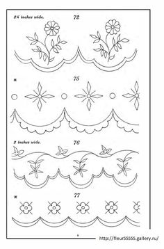 Hand Embroidery and Its Types - Embroidery Patterns Border Embroidery Designs, Cutwork Embroidery, Learn Embroidery, Hand Embroidery Patterns, Vintage Embroidery, Applique Designs, Embroidery Stitches, Machine Embroidery, Diy Bordados