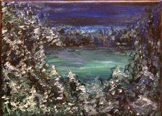 Winter Meadow Field Night Western Painting  by TheAtticTheory, $75.00