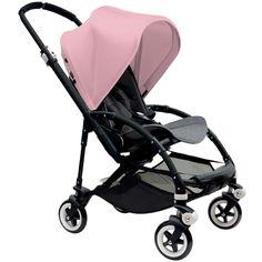 Bugaboo Bee3 Stroller - Black - Grey Melange - Soft Pink