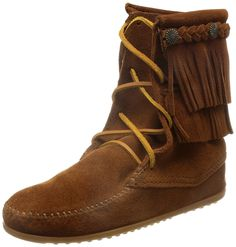 Minnetonka double fringe tramper boot womens moccasin women's shoes boots, minnetonka lace up fringe boot,Colorful And Fashion-Forward,Minnetonka-Women's  ...