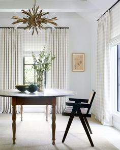 Emerson's subtle pattern checks all the boxes for timeless style. Get the look at theshadestore.com. Dining Room Windows, Design Consultant, Drapery, Timeless Fashion, Window Treatments, Modern Design, Shades, Interior Design, House Styles