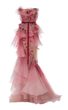 Strapless Ombre Gown, Pink - $11995